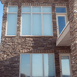 Large picture replacement windows on home.