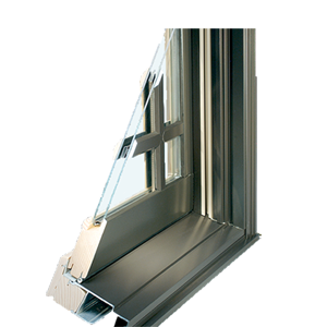 Aluminum-Wood Clad Window Cutaway